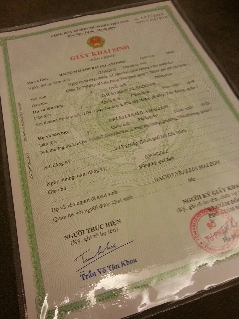 How to get a birth certificate in vietnam a summary hello saigon photo birthcertzps26ec1113g aiddatafo Images