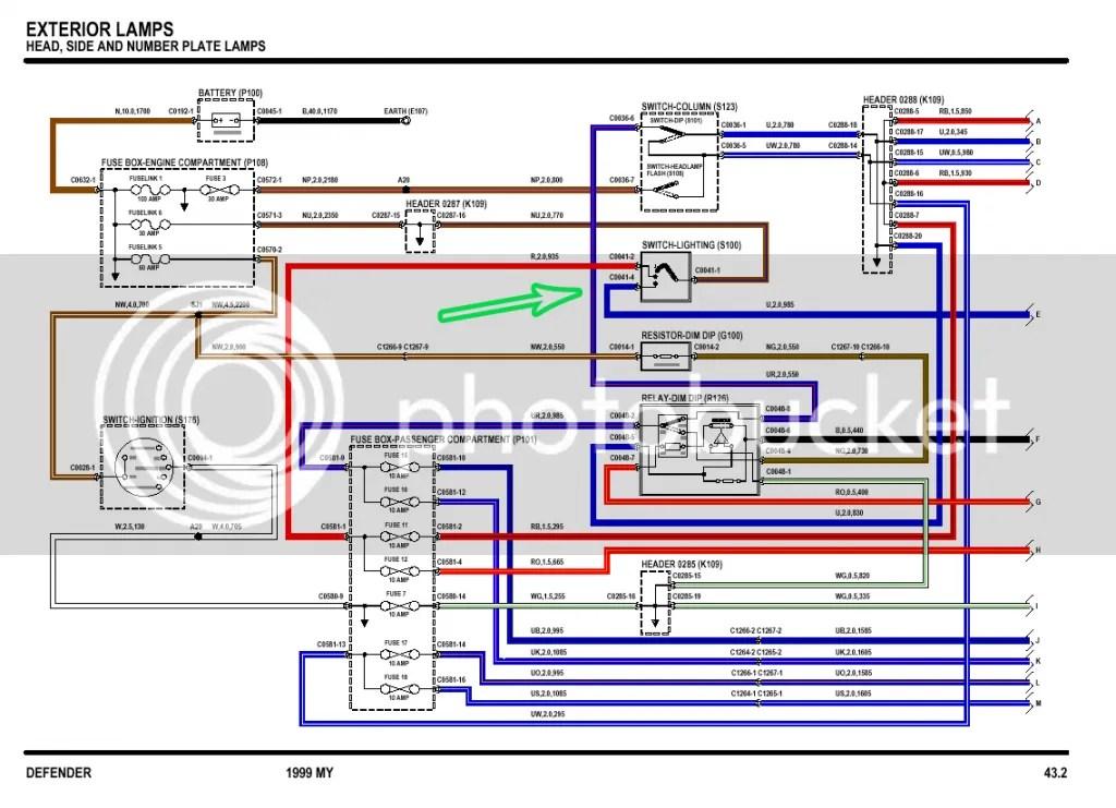 WiringHeadlampTd5_zps98936807?resize\\\=665%2C481 diagrams 14491011 land rover wiring diagrams diagrams14491011 land discovery td5 wiring diagram at gsmx.co