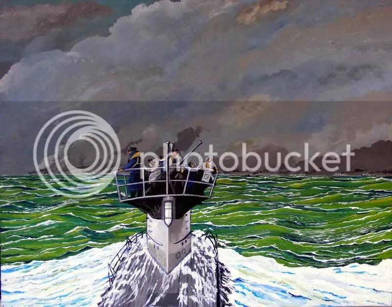 U-Boat shadowing convoy