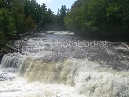 Front view of Lower Tahquamenon Falls