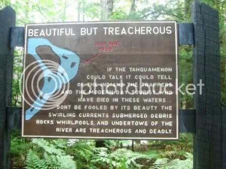 Warning at Lower Tahquamenon Falls