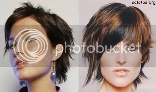 corte de cabelo curto com mechas
