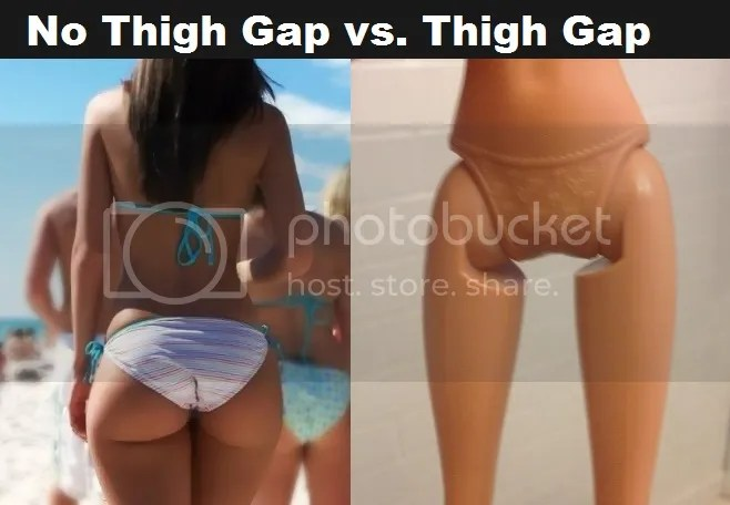 What does it mean when you have a thigh gap