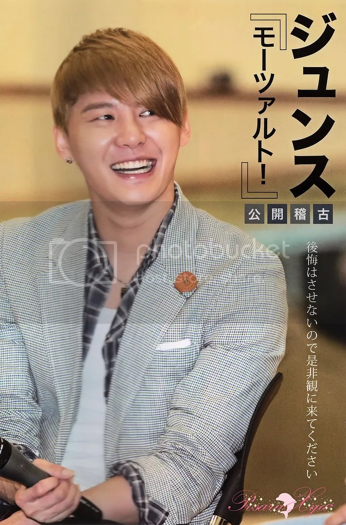 [PIC] Junsu on a Japanese Korean Wave Magazine
