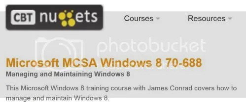 CBT Nuggets - Microsoft MCSA Windows 8 70-688
