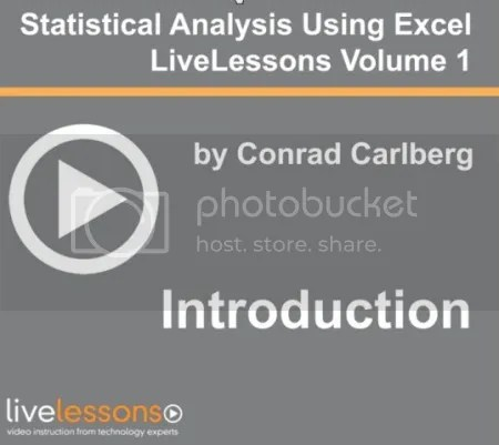LiveLessons - Statistical Analysis Using Excel