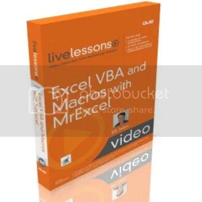 Livelesson - Excel VBA and Macros Tutorial with Bill Jelen (MrExcel)