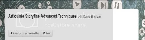 Lynda - Articulate Storyline Advanced Techniques with Daniel Brigham