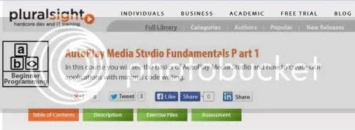 Pluralsight - AutoPlay Media Studio Fundamentals Part 1