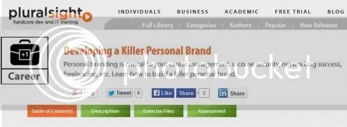 Pluralsight - Developing a Killer Personal Brand