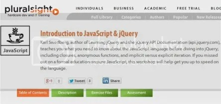 Pluralsight - Introduction to JavaScript & jQuery (2014)