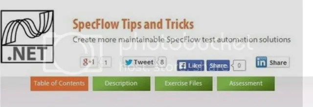 Pluralsight - SpecFlow Tips and Tricks