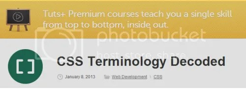 Tuts+ Premium - CSS Terminology Decoded (2013)