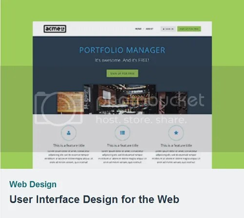 TutsPlus - User Interface Design for the Web