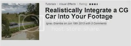 AE TutsPlus - Realistically Integrate a CG Car Into Your Footage