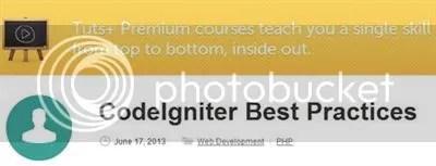 Tuts+ Premium – CodeIgniter Best Practices