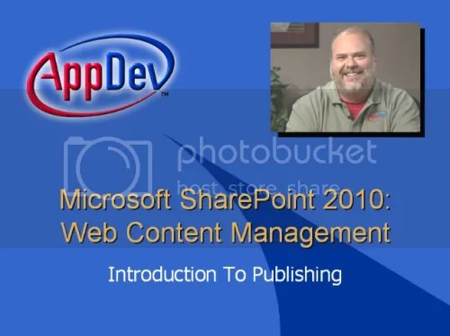 AppDev - Microsoft Sharepoint 2010 : Web Content Management