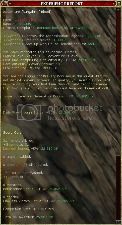 Even's BoB XP report