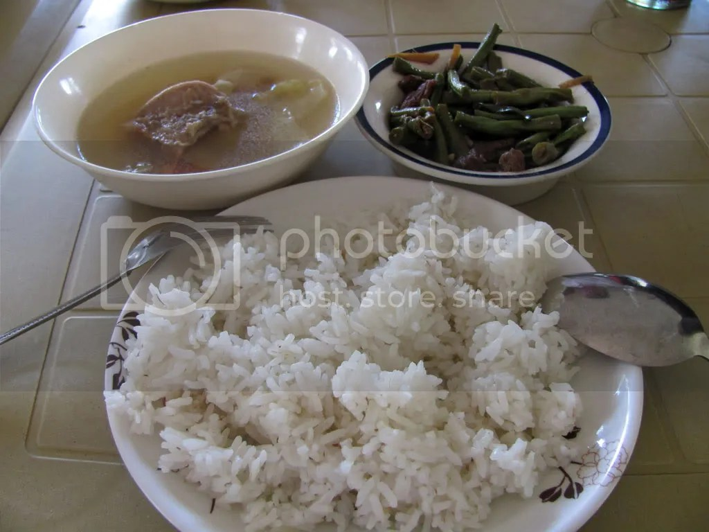 Nilagang Baka and Adobong Sitaw