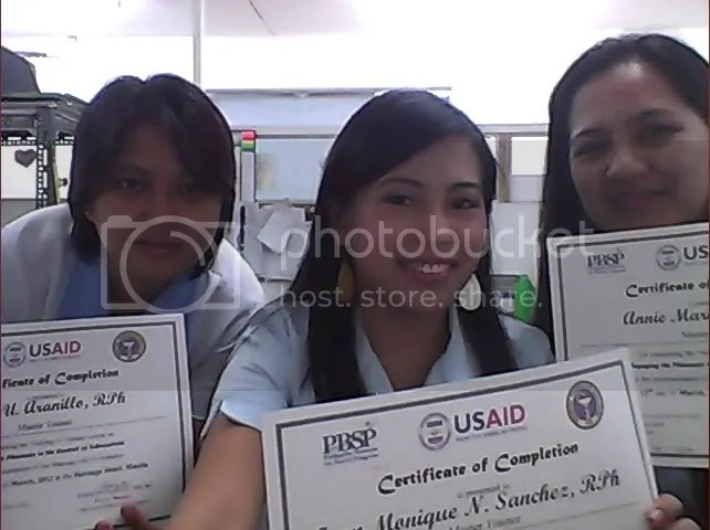 Abel, Moe, and Annie with Certificates