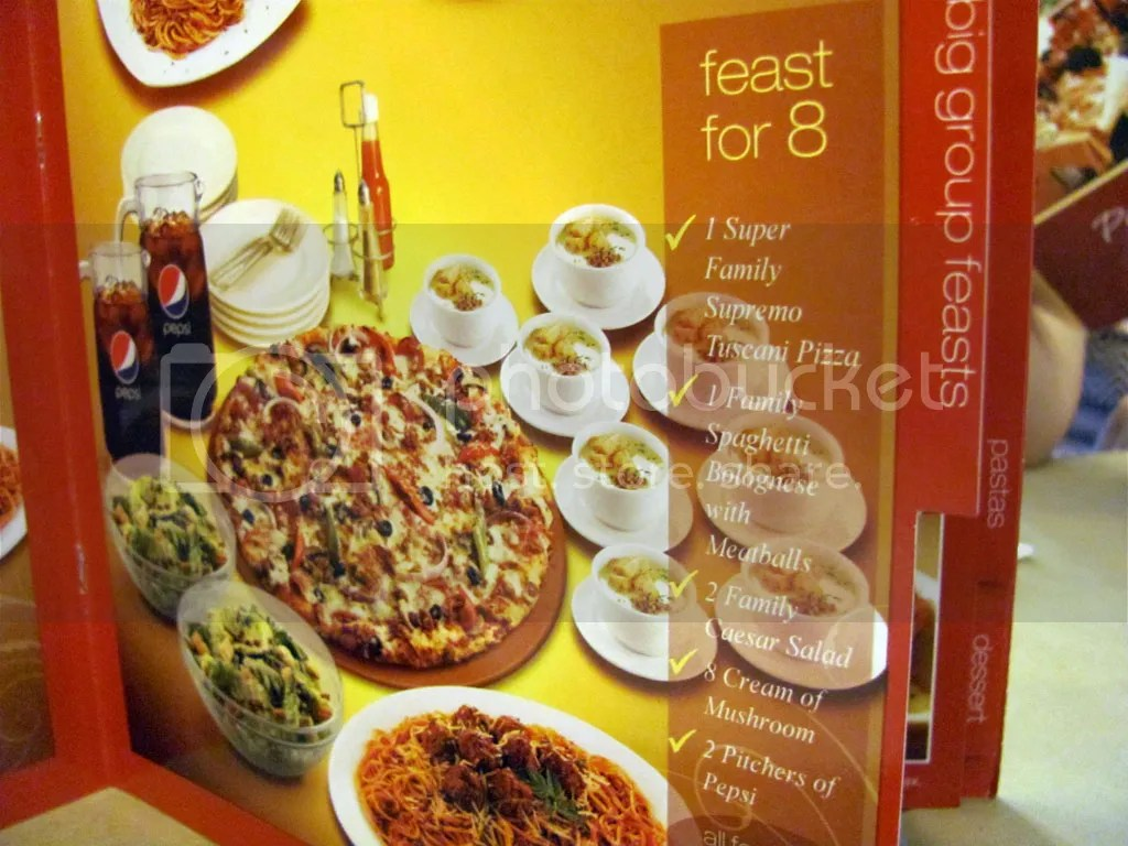 Pizza Hut's Feast for 8