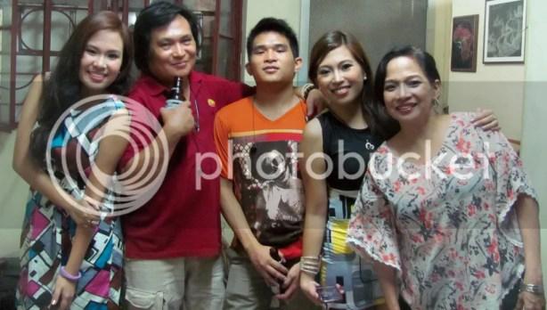 With Mariah, Papa, Patrick, and Mama