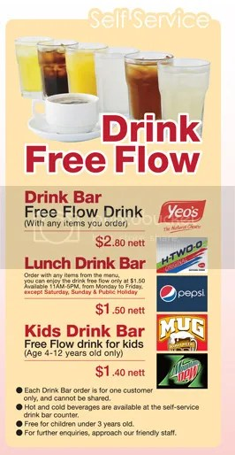 Free Flow Drinks (c) Saizeriya