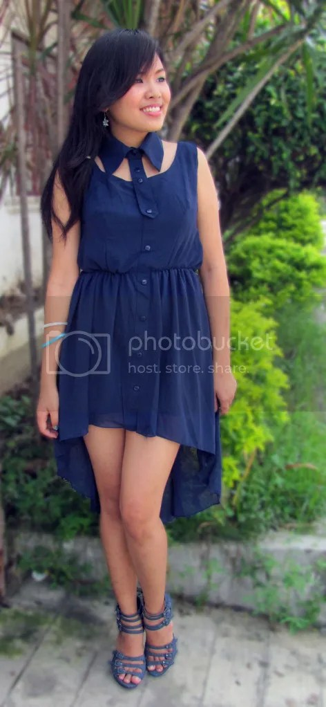 Sleeveless Mullet Dress with Detachable Collar