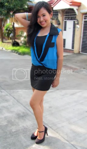Stretch Dress with Chiffon Cover Up