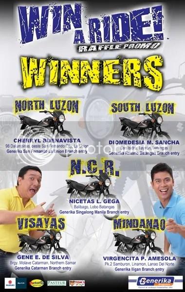 Win A Ride! Raffle Promo Winners