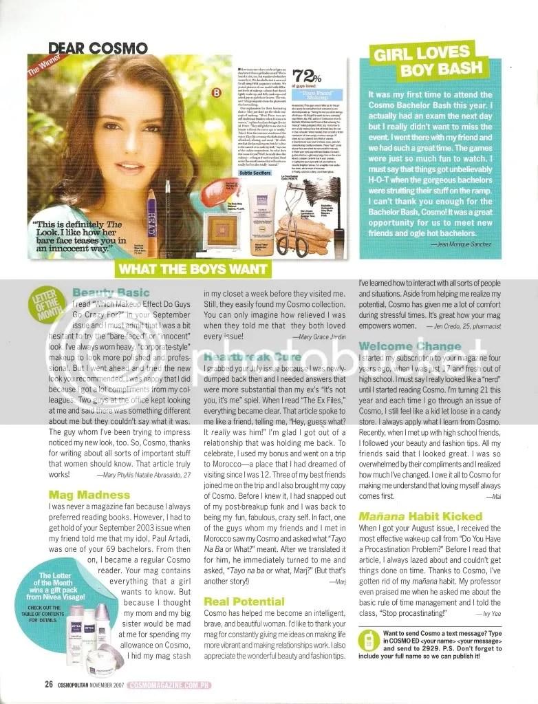 Cosmopolitan Magazine (November 2007)