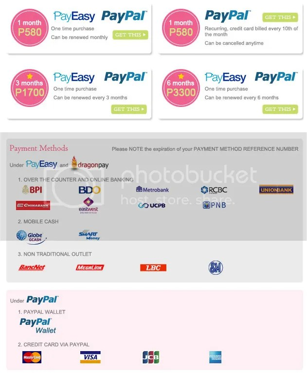 Subscription Plans and Payment Methods