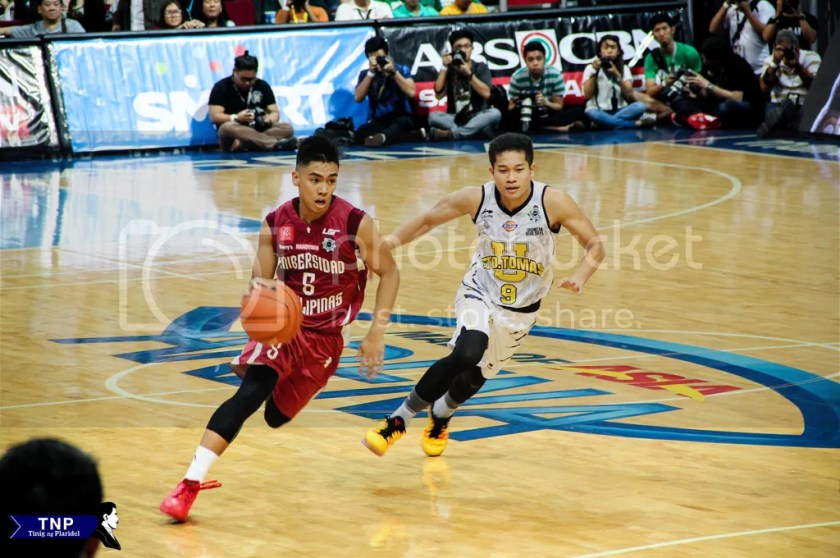 Diego Dario's 15 points was not enough to lift his team beat UST, 59-67.