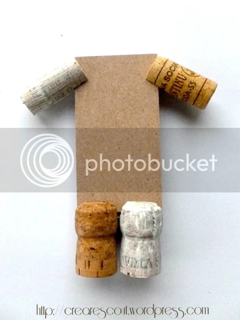 pupazzo tappi sughero e legno