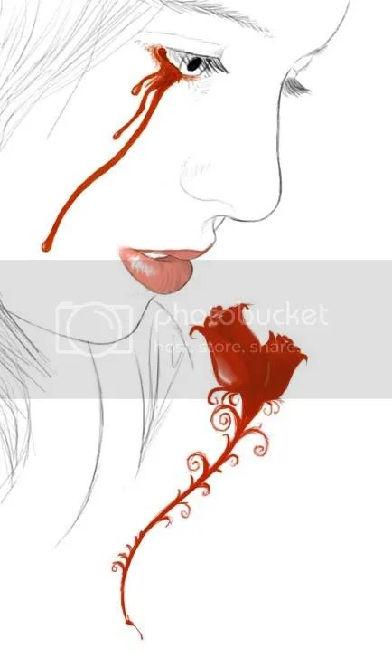 Spine_of_Red_Roses.jpg crying tears of blood w?rose image by Tears_of_Roses