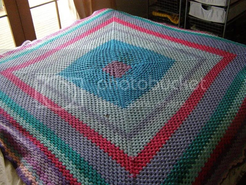 The blanket fits a queen size bed or wraps around a person perfectly.