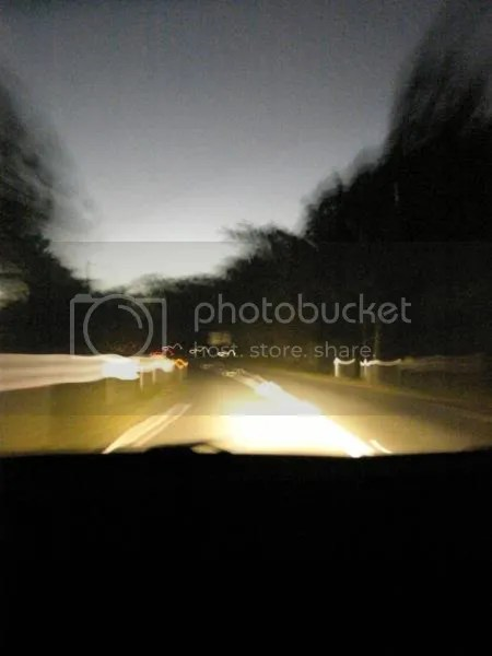 Yes its almost dark on our drive home... almost 7pm and out of the house since before 7am