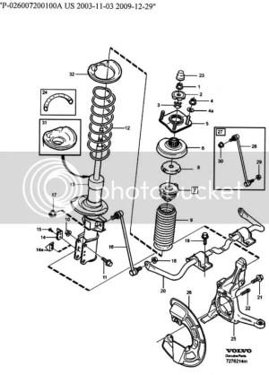 2002 V70 front strut assembly diagram?