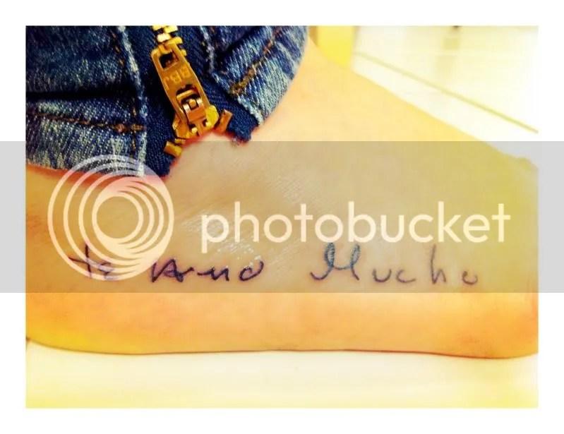 Tattoo, Te Amo Mucho