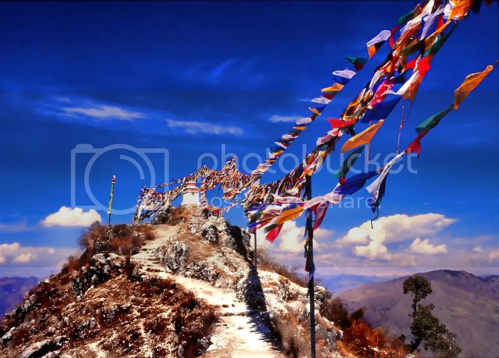 Prayer Flags on Nepalese Mountains