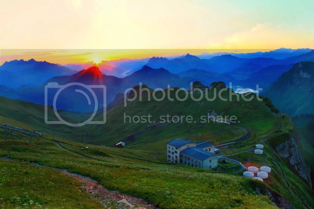 Sunrise at Rochers de Naye