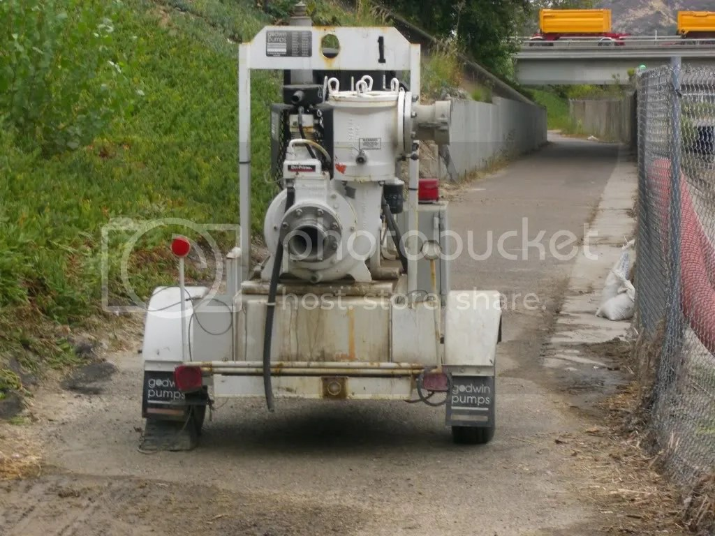 Waste Water Robot on Bike Path