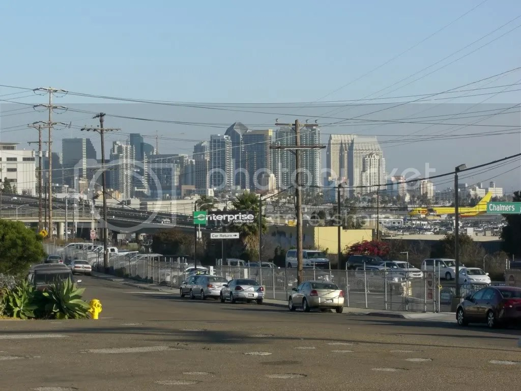 View of Downtown San Diego From Old Town
