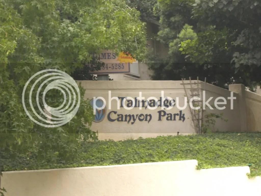 Talmadge Canyon Park Sign