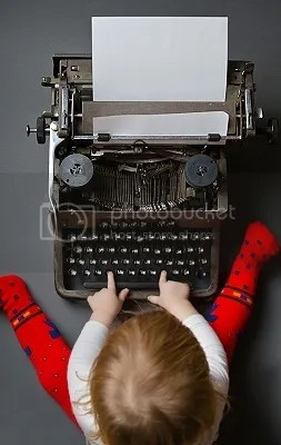 The young writer at work