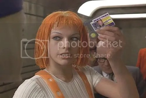 Leeloo Dallas Multipass, the Fifth Element, the Supreme Being.