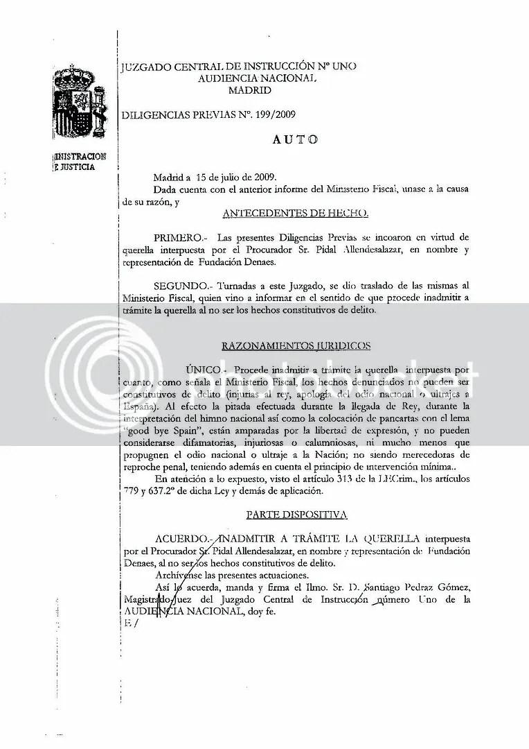 libertad de expresion audiencia nacional pitidos silbidos himno de España