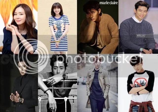Choi Ji Woo, Lee Cho Hee, Lee Jun Ki, Taecyeon, Ji Chang Wook, Park Hae Jin, Lee Jong Suk y Kai