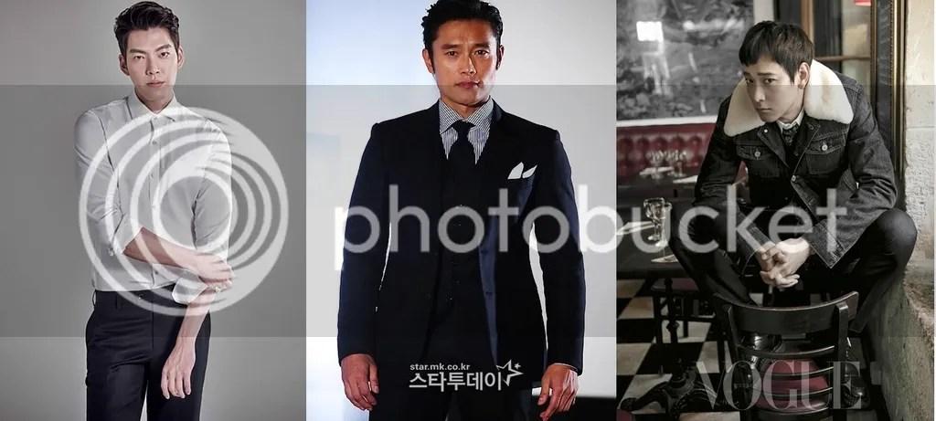 Kim Woo Bin, Lee Byung Hun y Kang Dong Won