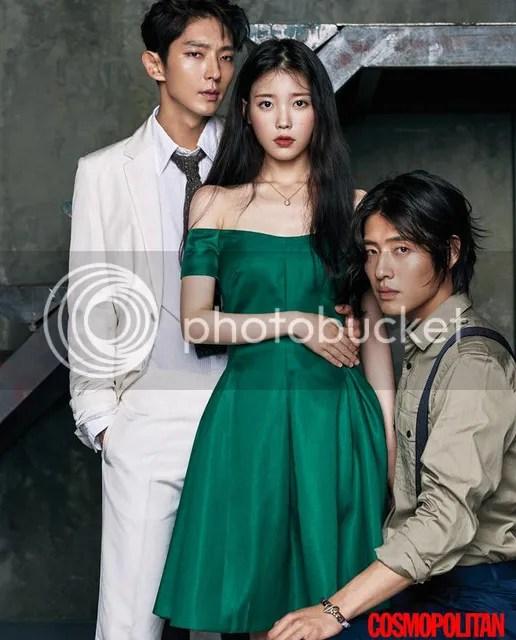 Lee Jun Ki, IU y Kang Haneul para Cosmopolitan, agosto de 2016. 1